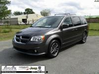 Gray 2017 Dodge Grand Caravan SXT FWD 6-Speed Automatic