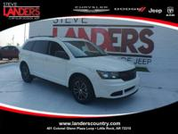 Certified. White 2017 Dodge Journey SE FWD 4-Speed