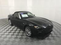 CARFAX One-Owner. Clean CARFAX. Black 2017 Fiat 124
