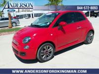 This FIAT 500 has a powerful Premium Unleaded I-4 1.4