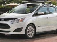 Clean CARFAX. Oxford White 2017 Ford C-Max Hybrid SE
