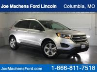 Clean CARFAX. Silver 2017 Ford Edge SE FWD 6-Speed