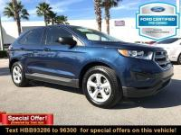 CARFAX One-Owner. Blue 2017 Ford Edge SE FWD 6-Speed