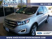 Certified. Ingot Silver Metallic 2017 Ford Edge