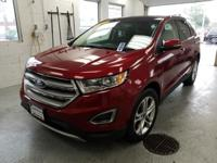 Recent Arrival! This 2017 Ford Edge Titanium in Red