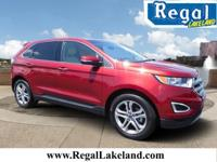 New Price! Red 2017 Ford Edge Titanium FWD 6-Speed