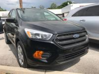 Black 2017 Ford Escape S FWD 6-Speed Automatic 2.5L