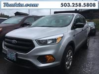 2017 Ford Escape S Silver 2.5L i-VCT  CARFAX One-Owner.