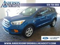 New Price! Certified. Blue 2017 Ford Escape S FWD