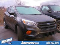 Clean CARFAX. Magnetic Metallic 2017 Ford Escape S FWD