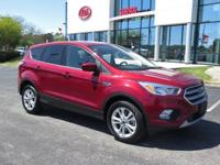 Clean CARFAX. Red 2017 4D Sport Utility Ford Escape SE