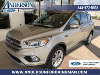 Certified. White Gold Metallic 2017 Ford Escape SE 4WD