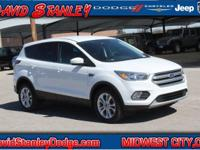 CARFAX One-Owner. White 2017 Ford Escape SE FWD