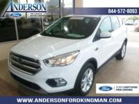 Certified. Oxford White 2017 Ford Escape SE FWD 6-Speed