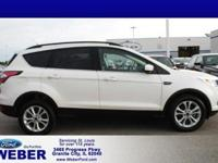 White 2017 Ford Escape * BLUETOOTH *, * USB ADAPTER *,