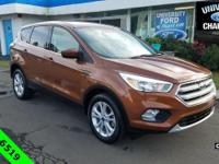 Clean CARFAX. 2017 Ford Escape SE Canyon Ridge Metallic