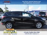 This 2017 Ford Escape SE in Black is well equipped