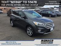 CARFAX One-Owner. Clean CARFAX. Gray 2017 Ford Escape