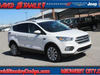 CARFAX One-Owner. Clean CARFAX. White 2017 Ford Escape