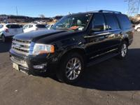 Clean CARFAX. Shadow Black 2017 Ford Expedition Limited
