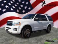 Clean CARFAX. White 2017 Ford Expedition XLT 4WD