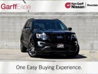 CARFAX One-Owner. Black 2017 Ford Explorer Sport AWD