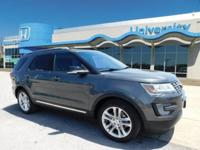 CLEAN CARFAX One-Owner. GREY 2017 Ford Explorer XLT FWD