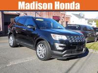 2017 FORD EXPLORER LIMITED One-Owner. Clean CARFAX.