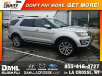 2017 Ford Explorer Limited AWD CARFAX One-Owner. Clean