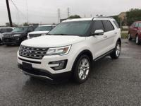 Options:  2017 Ford Explorer Limited|White Platinum