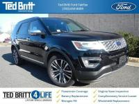 2017 Ford Explorer Platinum in Shadow Black w/ Ebony