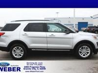Ingot Silver 2017 Ford Explorer Odometer is 12890 miles