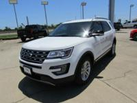 Options:  2017 Ford Explorer Xlt|Oxford White|Ebony