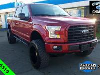 CARFAX One-Owner. 2017 Ford F-150 XLT Ruby Red Metallic