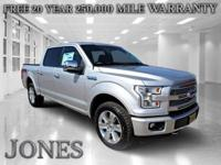 FREE 20 YEAR / 250,000 MILE WARRANTY.  Options:  Fx4
