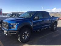 Raptor trim, Lightning Blue exterior. Leather, Back-Up
