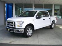 XLT trim, Oxford White exterior and Black interior.