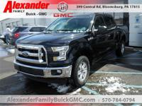 Black 2017 Ford F-150 XLT 4WD 6-Speed Automatic