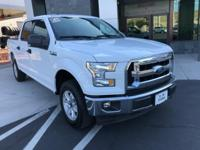 Clean CARFAX. White 2017 Ford F-150 4D SuperCrew 4WD