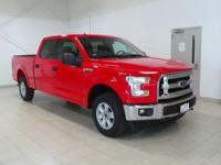 Red 2017 Ford F-150 4WD 6-Speed Automatic Electronic