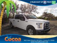 This 2017 Ford F-150 XLT in White features: Clean