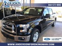 Certified. Shadow Black 2017 Ford F-150 XLT RWD 6-Speed
