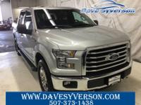 Silver 2017 Ford F-150 XLT 4WD 6-Speed Automatic