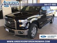 Certified. Shadow Black 2017 Ford F-150 XLT 4WD 6-Speed