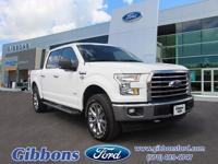 Clean CARFAX. 4wd. White 2017 Ford F-150 XLT 4WD