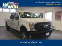 Ford Certified!  F250SD XL Crew Cab in Oxford White.