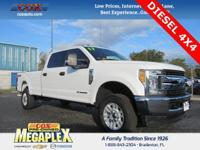 This 2017 Ford F-250SD XLT in White Platinum Metallic
