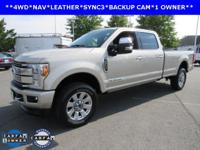 ONE OWNER, NAVIGATION, SUNROOF, F-350SD Platinum, 4D