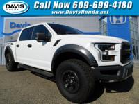 White 2017 Ford F-150 Raptor 4WD 10-Speed Automatic