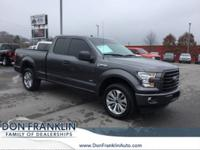 Clean CARFAX. Gray 2017 Ford F-150 Super Cab 4WD
